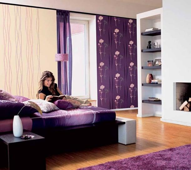 decoracao-roxa-para-quarto