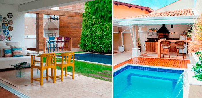 5 ideias para a decoraç u00e3o deárea externa com piscina Blog de Decoraç u00e3o e Tend u00eancias Gourmet  -> Decoração De Area Externa Pequena