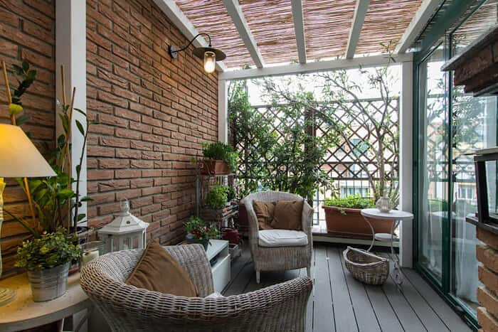 pergolado no jardim sala de estar
