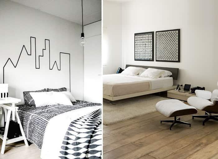 decoração minimalista preto e branco