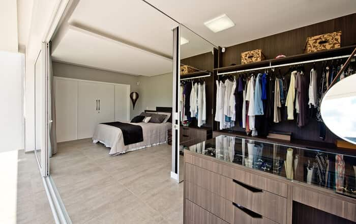 decoração minimalista closet