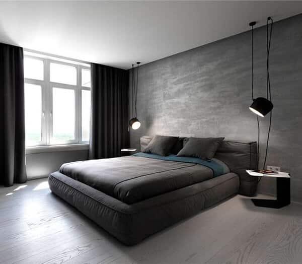 decoração minimalista cinza