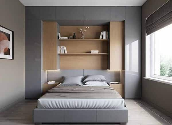 Decoração minimalista quarto armário